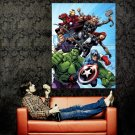 Avengers Characters Comics Art Marvel Movie Huge 47x35 Print POSTER