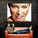 Jessica Biel Tongue Portrait Hot Actress Huge 47x35 Print POSTER