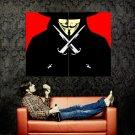 V For Vendetta Guy Fawkes Vector Art Huge 47x35 Print POSTER
