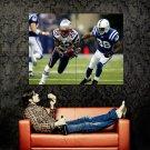 Asante Samuel Run Philadelphia Eagles NFL Football Sport Huge 47x35 POSTER