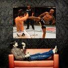 Anderson Silva Kick Mixed Martial Arts Huge 47x35 Print POSTER