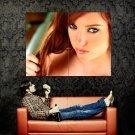 Hot Redhead Beautiful Girl Portrait Huge 47x35 Print POSTER