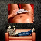 Hot Body Close Up Skin Sexy Panties Huge 47x35 Print POSTER
