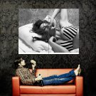 Penelope Cruz Bra Hot Boobs BW Huge 47x35 Print POSTER