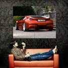 BMW M1 Rear Red Future Concept Car Huge 47x35 Print POSTER