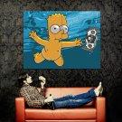 Naked Bart Simpson Underwater Movies Huge 47x35 Print POSTER