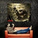 Predator Skull Blood Fantasy Art Huge 47x35 Print Poster