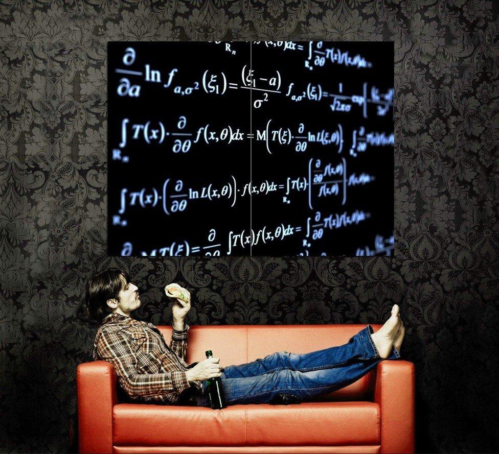 Formula Maths Blackboard Macro Huge 47x35 Print POSTER