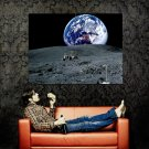 Lunar Rover Moon Surface Space Huge 47x35 Print POSTER