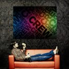 CREW Color Art Abstraction Huge 47x35 Print Poster
