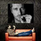 Gerard Butler BW Cigarette Portrait Huge 47x35 Print Poster