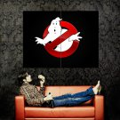 Ghostbusters Logo Movie Cool Huge 47x35 Print Poster