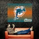 Miami Dolphins Logo NFL Huge 47x35 Print Poster