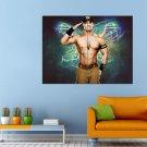 John Cena Sport American Wrestler Huge 47x35 Print POSTER