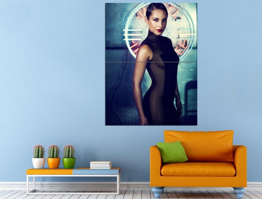 Alicia Keys Singer Actress Hip Hop Soul Huge 47x35 Print POSTER