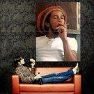 Bob Marle Smoke Reggae Music Singer Vintage Huge 47x35 Print Poster