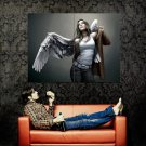 Hot Angel Girl Wings Fantasy Painting Art Huge 47x35 Print Poster