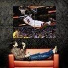 LeBron James Hanging On The Rim Dunk NBA Huge 47x35 Print Poster