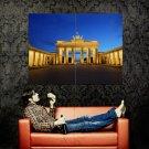 Brandenburg Gate Berlin Lights Night Huge 47x35 Print Poster