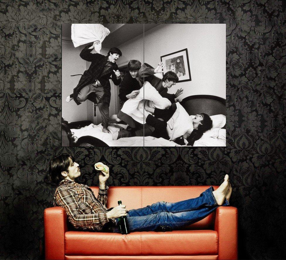 Beatles Band BW Photo Art Huge 47x35 Print Poster