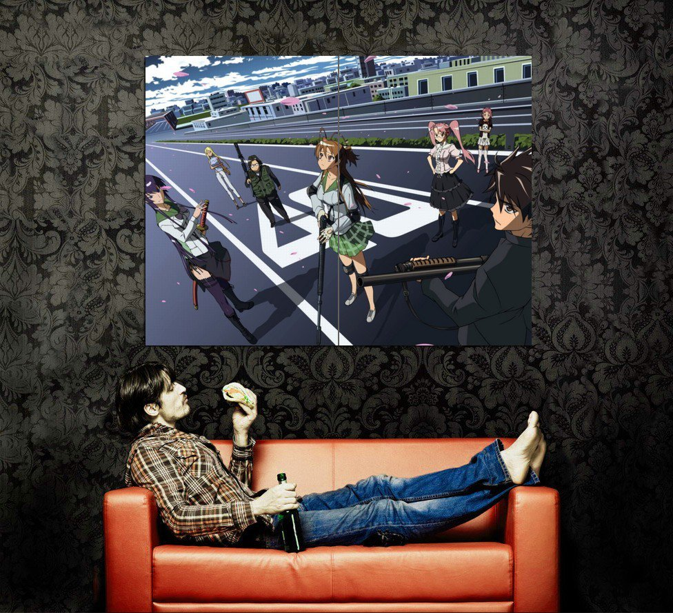 High School Of The Dead Anime Art Huge 47x35 Print Poster