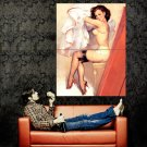 Hot Retro Pin Up Girl Vintage Art Huge 47x35 Print Poster