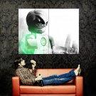 Lego Green Lantern Art Huge 47x35 Print Poster