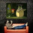 My Neighbor Totoro Rain Art Huge 47x35 Print Poster