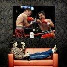 Pacquiao Vs De La Hoya Boxing Huge 47x35 Print Poster