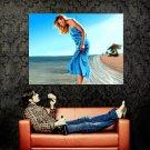 Beautiful Girl Seashore Beach Painting Art Huge 47x35 Print Poster