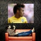 Neymar Da Silva Santos Brazil Sport Huge 47x35 Print Poster