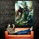 Battle Elves Fantasy Art Huge 47x35 Print Poster