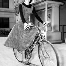 Audrey Hepburn Bicycle BW Movie Actress 32x24 Print POSTER