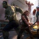 Avengers Hawkeye Hulk Ironman Movie Art 32x24 Print POSTER