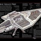 Republic Assault Ship Star Wars Movie 32x24 Print POSTER