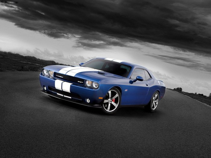 Dodge Challenger SRT8 Stripes Muscle Car 32x24 Print POSTER