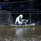 Grim Reaper Death Banksy Graffiti Street Art 32x24 Print POSTER
