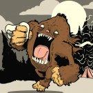 Bigfoot Sasquatch Cool Funny Art 32x24 Print POSTER
