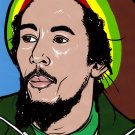 Bob Marley Reggae Painting Art 32x24 Print POSTER