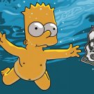 Bart Simpson Naked Underwater Art 32x24 Print POSTER