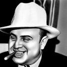 Al Capone Cigar Chicago Gangster Mobster Art Outlaw 32x24 POSTER