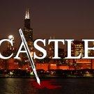 Castle Logo City Skyline Night Blood TV Series 32x24 POSTER