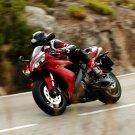 Yamaha Red Black Super Sport Bike 32x24 Print POSTER