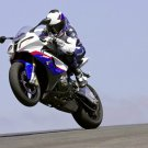 BMW Wheelie Super Sport Bike 32x24 Print POSTER