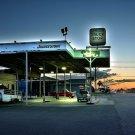 Bridgestone Truck Stop Evening Car 32x24 Print POSTER
