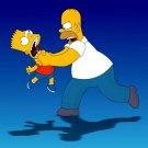 Homer Bart Simpson Choke Movies 32x24 Print POSTER
