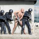 Swat Police Naked Man Cool 32x24 Print Poster