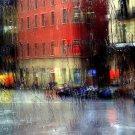 Street Window Glass Rain Focus Cool 32x24 Print POSTER