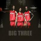 Big Three Wade Bosh James Miami Poster
