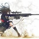 LIGHT FIFTY Barrett M82 Weapon Girl 32x24 Print Poster